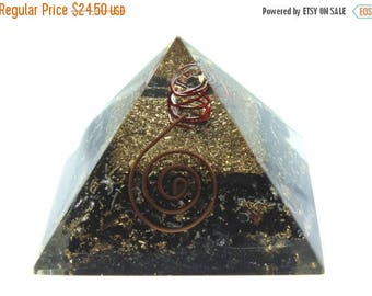Special Discount Black Tourmaline Pyramid with Crystal Quartz Point.  Chakra, Meditation Stone, Amulet, Energy Balancing, Chakra Balancing