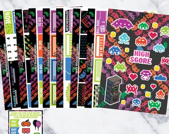 Space Invaders Legendary Kit (8 sheets)