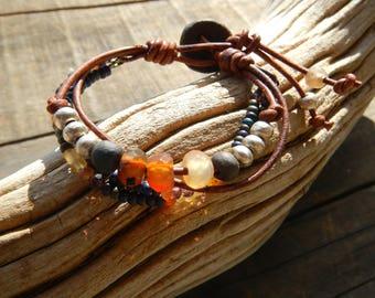 Beaded Bracelet , Beaded Jewelry, Beaded  Bracelet, Beaded Leather Bracelet for Women, Bead Bracelet, Bracelets for Women, Mother's Day Gift