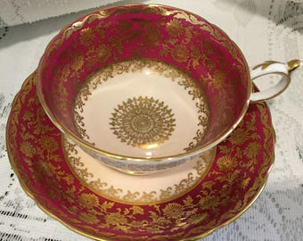 Vintage  Paragon Bone China Tea Cup & Saucer  - English