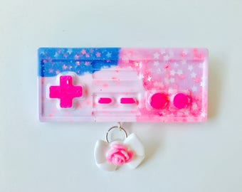 Pastel Game Controller Brooch