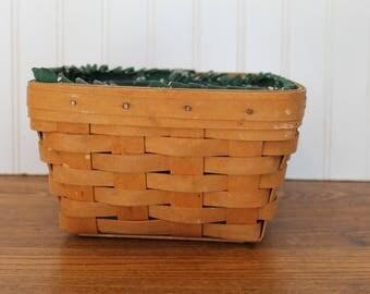 Longaberger Basket With Plastic Liner