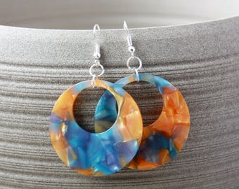 Acrylic earrings, earrings