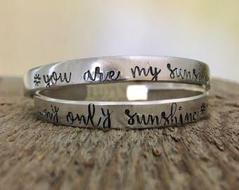 You Are My Sunshine My Only Sunshine Bracelets, Mom and Me Bracelets, Sunshine Bracelets, This is Us Bracelets