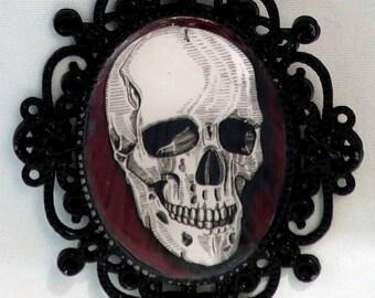 Human Skull Anatomical Pendant Necklace