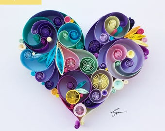 Love is All Around Quilling Art, Unique gift for mother's day/paper anniversary/wedding gift