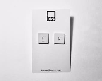 FU   Keyboard Earrings