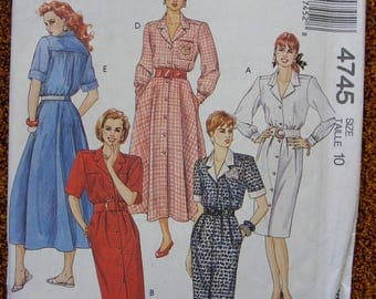 41% OFF Misses' Dress McCall's Sewing Pattern 4745 Size 10