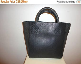 50% OFF Beautiful Vintage Dk. Gray Leather Tote