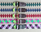 READY TO SHIP  Grosgrain Ribbon Belt, Double Square Loop Closure