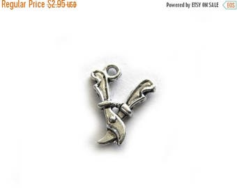 HALF PRICE 10 Silver Secateur Charms  - Garden Shears