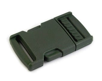 4 clip strap 25 mm khaki Green