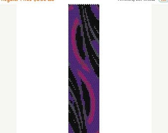 SALE HALF PRICE off Instant Download Beading Pattern Peyote Stitch Bracelet Purple Magic Seed Bead Cuff