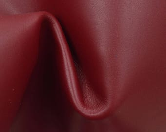 "Patriotic Ruby Red Leather Cow Hide 12"" x 12"" Pre-cut 3 1/2-4 oz TA-59919 (Sec. 6,Shelf 2,D)"