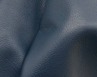 "Noble Navy Blue ""Signature""  Leather Cow Hide 8"" x 10"" Pre-cut 2-3 oz flat grain DE-61622 (Sec. 8,Shelf 3,C)"