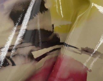 """Watercolor Waterfall Leather Cow Hide 12"""" x 12"""" Pre-cut 2 1/2-3 oz DE-62939 (Sec. 6,Shelf 4,A)"""
