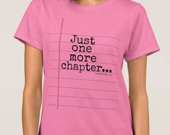 Pink, Blue or Green Notebook Paper Graphic© T-Shirt for Ladies - Fun & unique bookish gift for teachers and students!