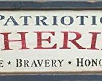 Patriotic Gatherings Wooden Sign Rustic Decor