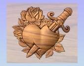 Gothic Valentine Heart Ro...