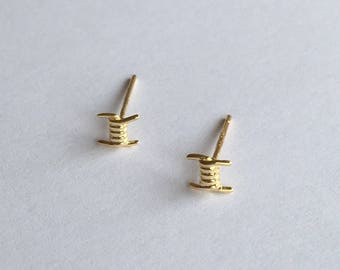 Sterling Silver Earrings  Studs (14K Gold filled)