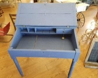 Antique Blue Desk