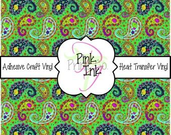 Paisley Vinyl Sheets // Beautiful Patterned Vinyl Sheets and Heat Transfer Vinyl Sheets in Pattern 491