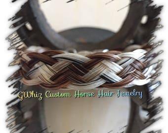 Flat horse hair bracelet