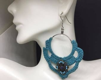 Crochet Staged Hoop Earrings