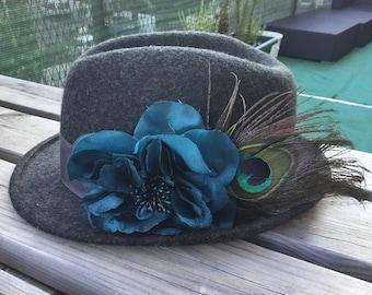Hat Grey Peacock