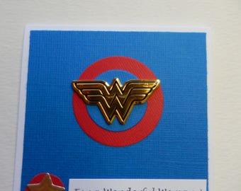 Square Wonder Woman Card