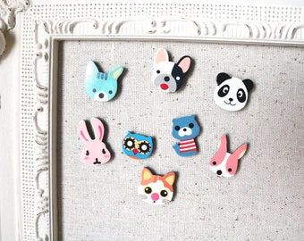 Animal magnets - cute magnets - fridge magnets - baby room magnets #M41