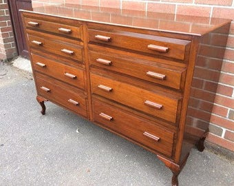 Bank Of 8 Drawers Chest of Drawers Vintage Antique