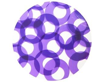 Donut Ring Vinyl Shape Top Hole 1.5 inch Vinyl Purple Go Go Transparent