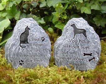 Pet Memorial Stone, Dog or Cat Memorial Marker, Cat Memorial Stone, Dog Memorial Stone,Pet Sympathy Gift, Grave Marker