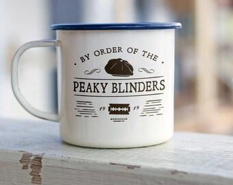 Peaky Blinders Enamel Mug. Personalised Gift, Coffee Mug, Tea Mug, Camping Gift