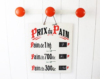 French coat racks orange and white - Rustic coat hanger wall hooks, entryway coat hooks, decorative hooks, hat rack, wall coat rack, D611