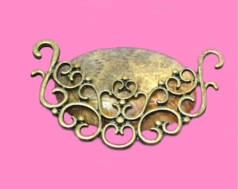 great connector for necklace bronze 55x30mm