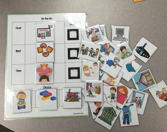 """Visual Schedule Autism Family Teacher Classroom """"On The Go"""""""