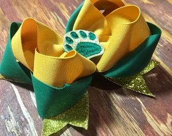 Baylor Bears inspired bow