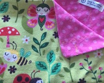 Fairy Bugs Flannel Baby Blanket