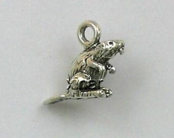 Sterling Silver 3-D Beaver Charm