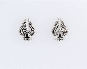Sterling Silver Perched Eagle Post or Stud Earrings