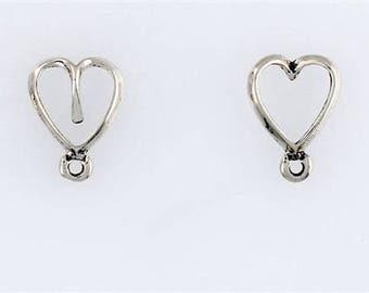 Sterling Silver Heart Clasps