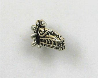Sterling Silver 3D Mayan Icon Charm