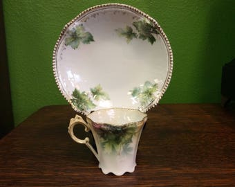 R.S. Prussia Demitasse Cup and Saucer Set C. 1890-1910