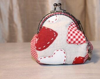 Big hearts cotton RETRO wallet