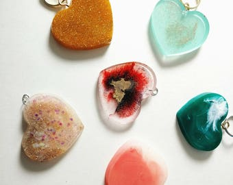 Heart Keychains - Heart Magnets - Heart Pins