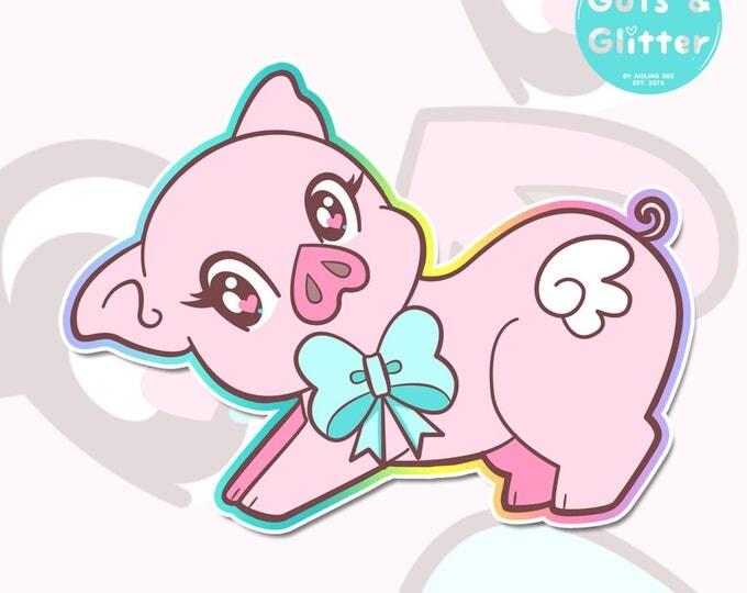 Penelope Pig Holographic Sticker