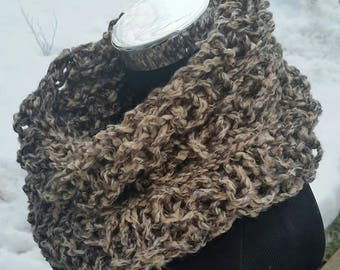 Taupe scarf, chunky scarf, cowl, Infinity, Earth Tone Cowl, Tan, Infinity, Taupe, snood, pullover scarf, long Infinity, Earth Tone, Scarf