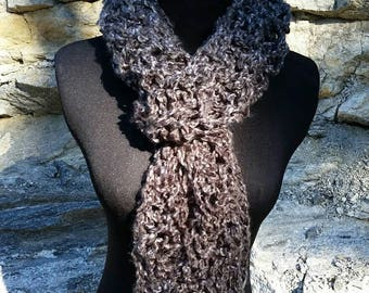 Grey Scarf, FREE SHIPPING SCARF, Chunky Scarf Scarves, pullover Scarf, knit Scarf, grey Scarf, Cowl, Infinity Scarf, Scarf, Infinity, Silver